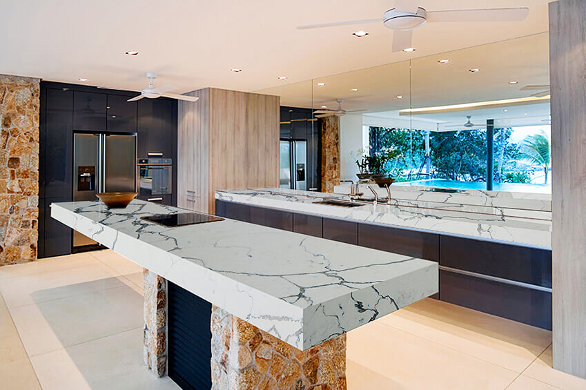 Statuario Venato Kitchen Quartz Master