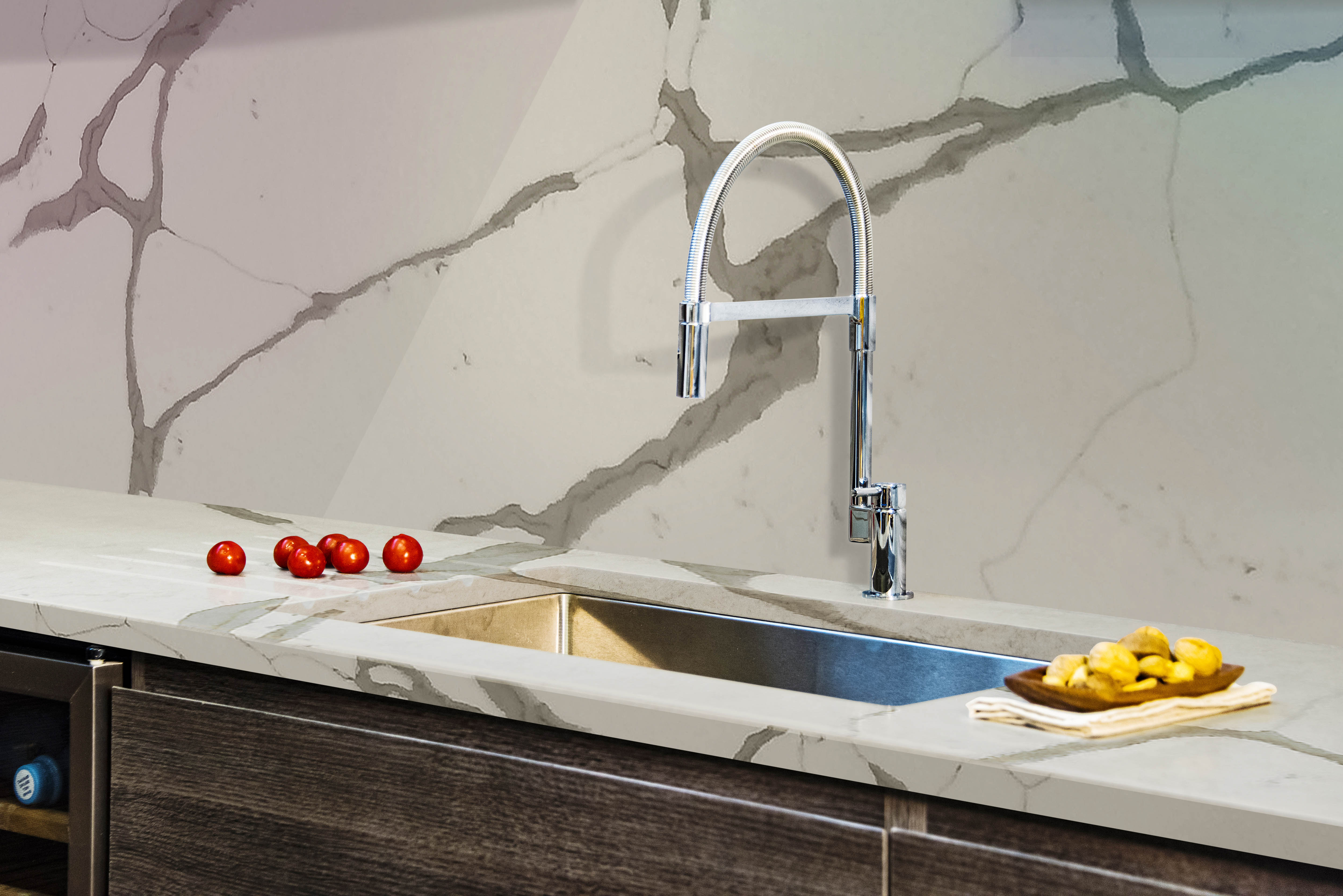 Undermount Stainless Steel Single Bowl Kitchen Sink with Granite